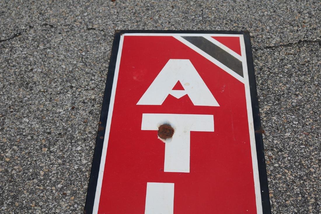 "Vintage Enamel ""Atlas Tires"" Advertising sign - 4"