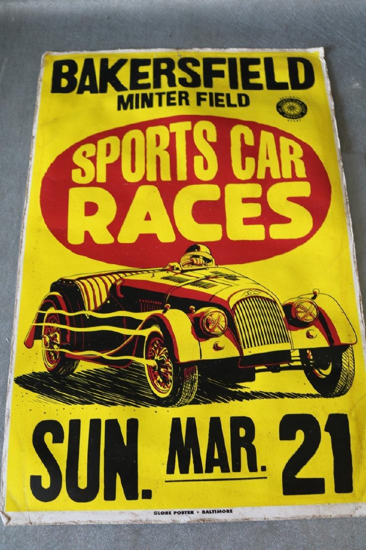 1950's Racing Car Poster