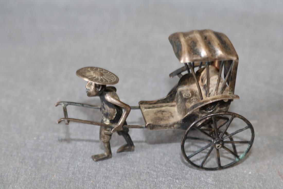 Chinese Export Silver Rickshaw