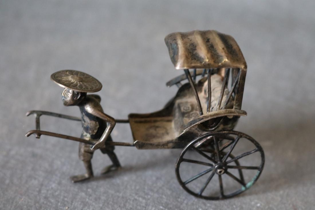 Chinese Export Silver Rickshaw - 2