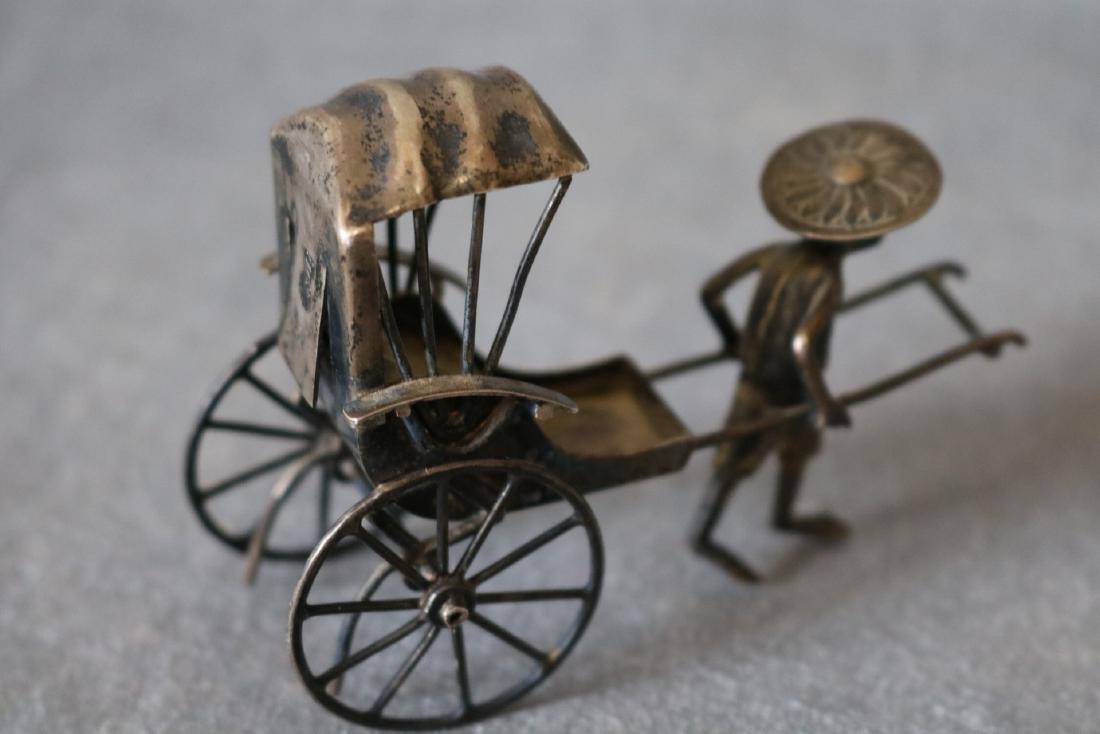Chinese Export Silver Rickshaw - 4