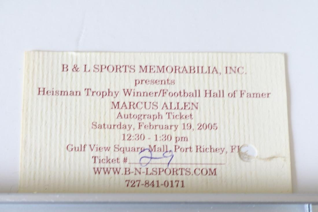 Marcus Allan Autographed Picture, with Ticket #29 - 6