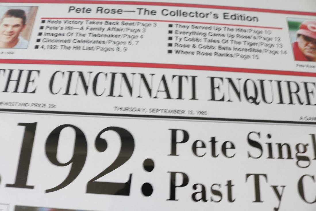 1985 Pete Rose Newspaper article with Autograph - 2