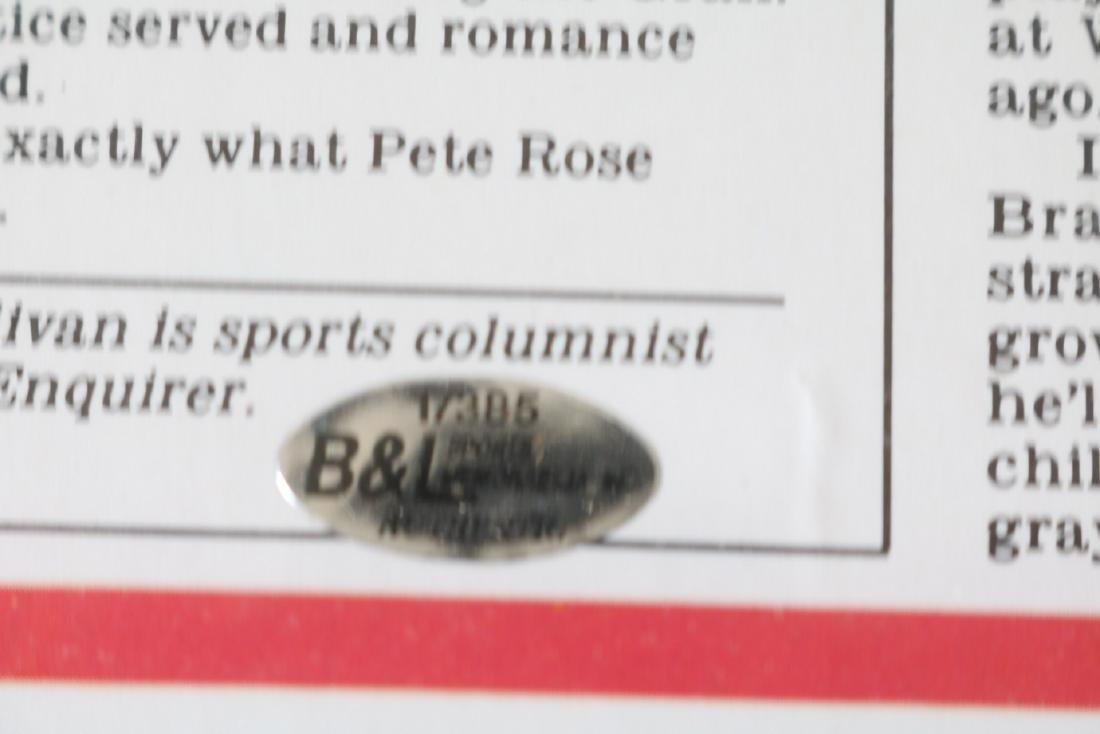 1985 Pete Rose Newspaper article with Autograph - 4