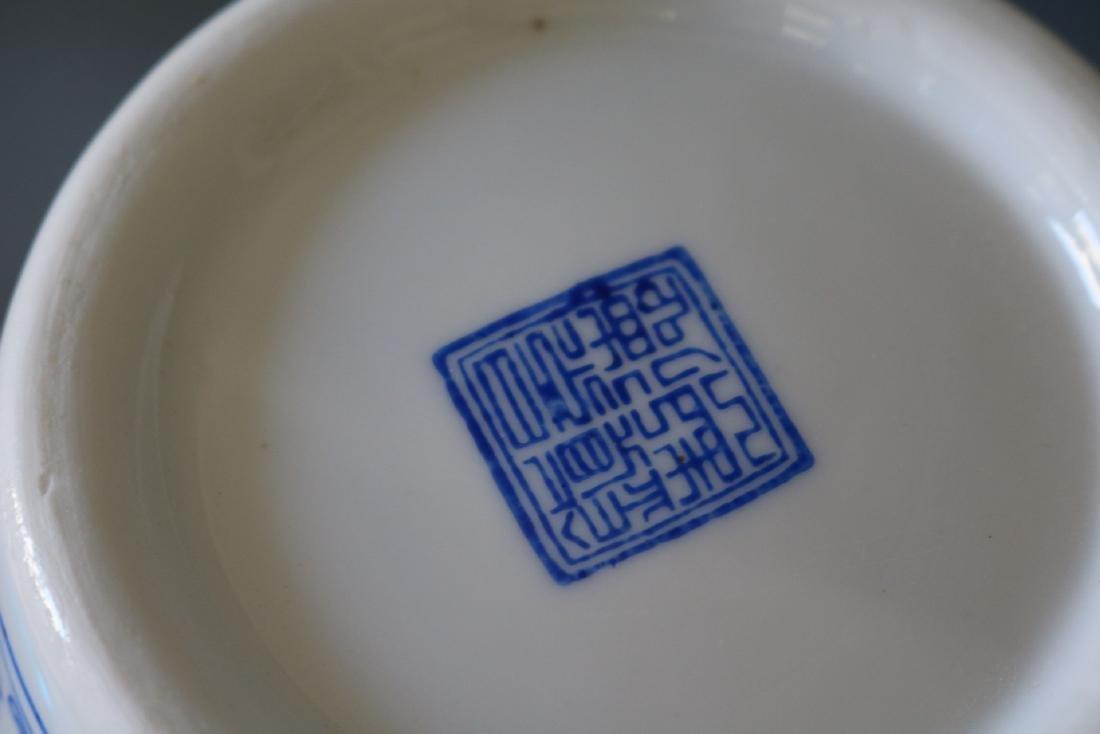Pair Large Asian Eggshell Porcelain Vases - 6