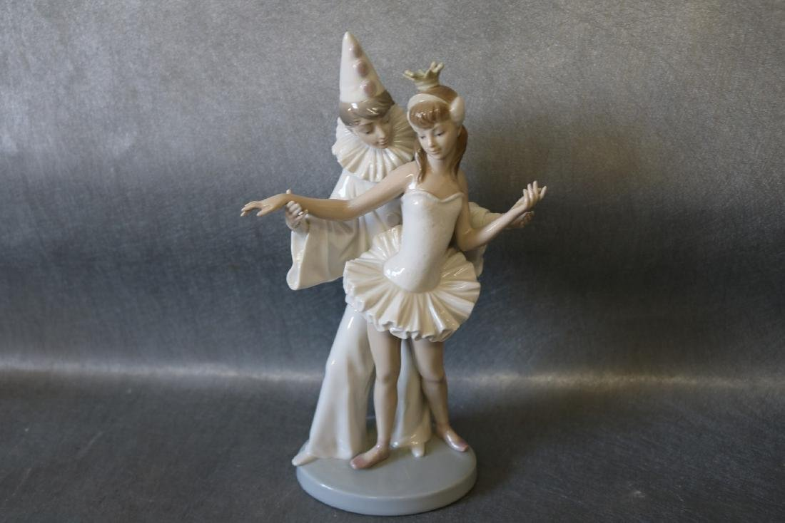 Lladro Figurine, Ballerina with Clown