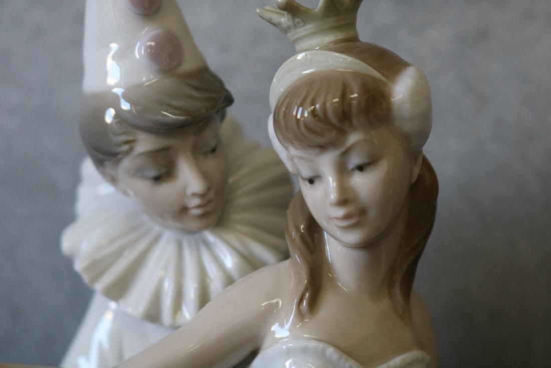 Lladro Figurine, Ballerina with Clown - 2