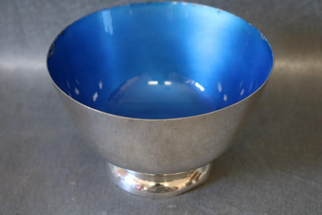 Towle Sterling & Blue Enamel Bowl