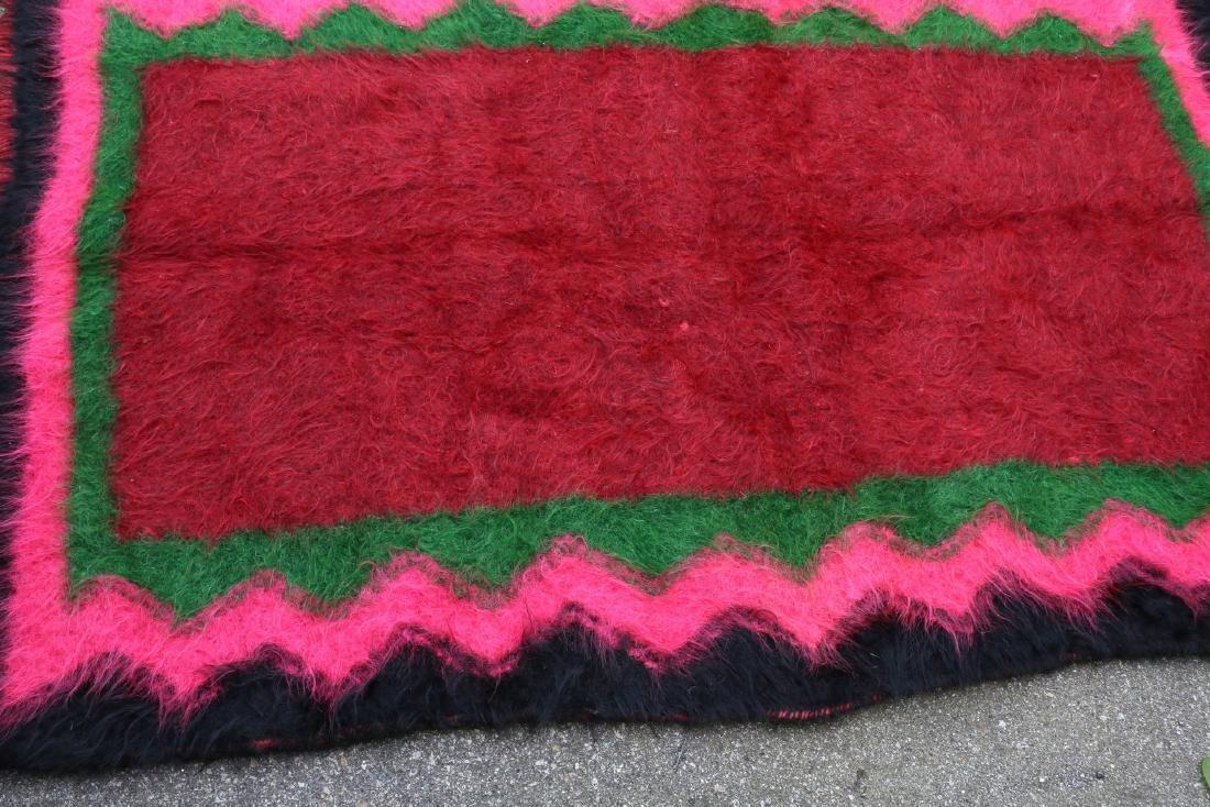 Vintage Homespun Shaggy Long Wool Rug/Carpet