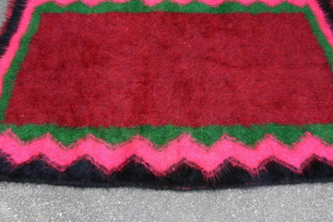 Vintage Homespun Shaggy Long Wool Rug/Carpet - 2