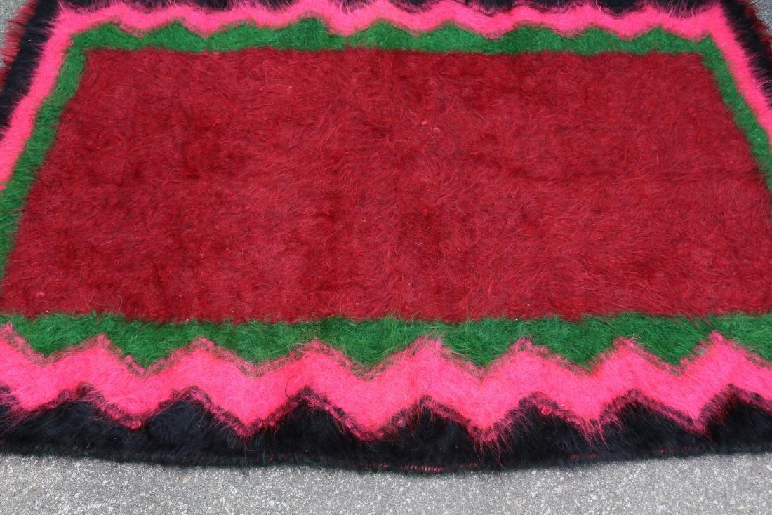 Vintage Homespun Shaggy Long Wool Rug/Carpet - 3
