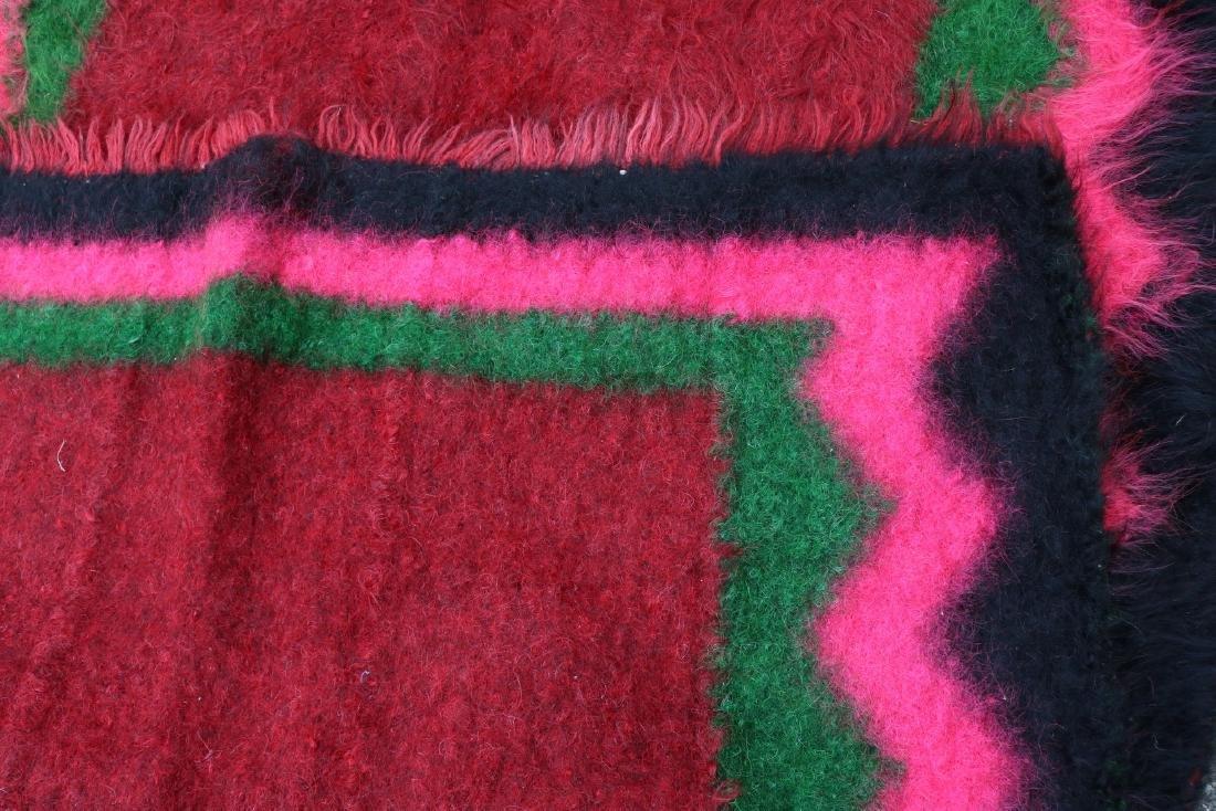 Vintage Homespun Shaggy Long Wool Rug/Carpet - 4