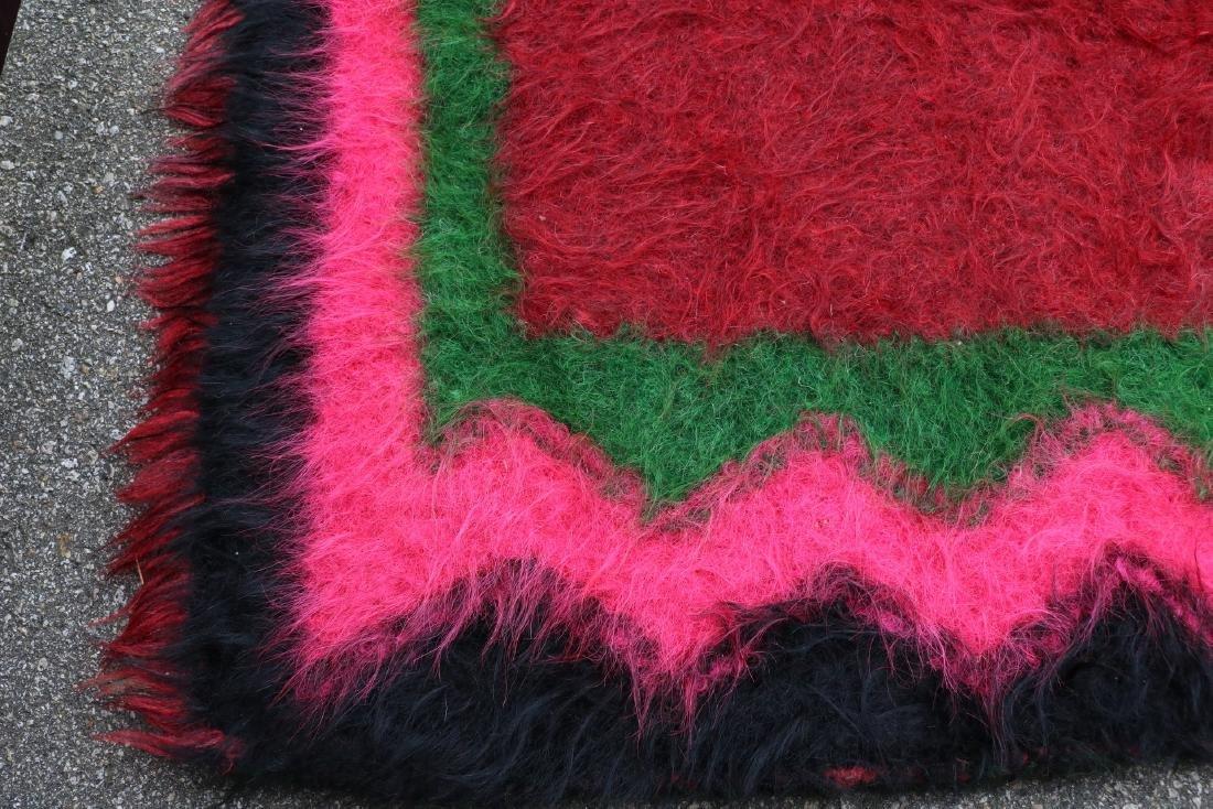 Vintage Homespun Shaggy Long Wool Rug/Carpet - 5
