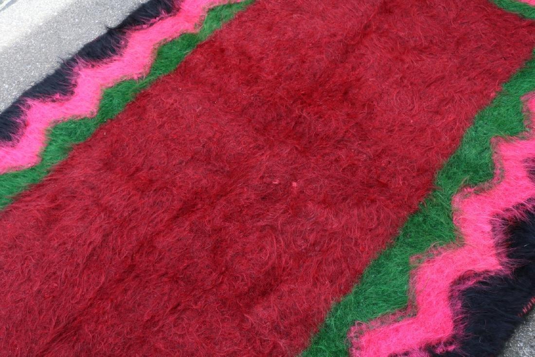 Vintage Homespun Shaggy Long Wool Rug/Carpet - 6