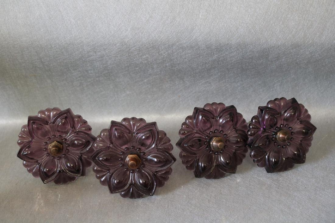 Antique Glass Amethyst Curtain Tie Backs