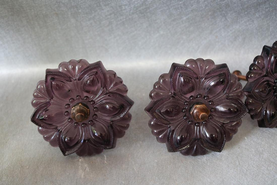 Antique Glass Amethyst Curtain Tie Backs - 2