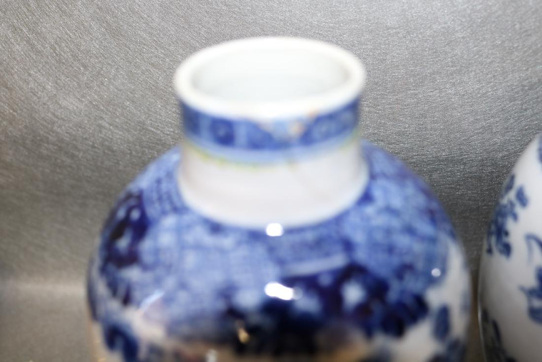 Pair Qian Long Chinese Export Vases - 4