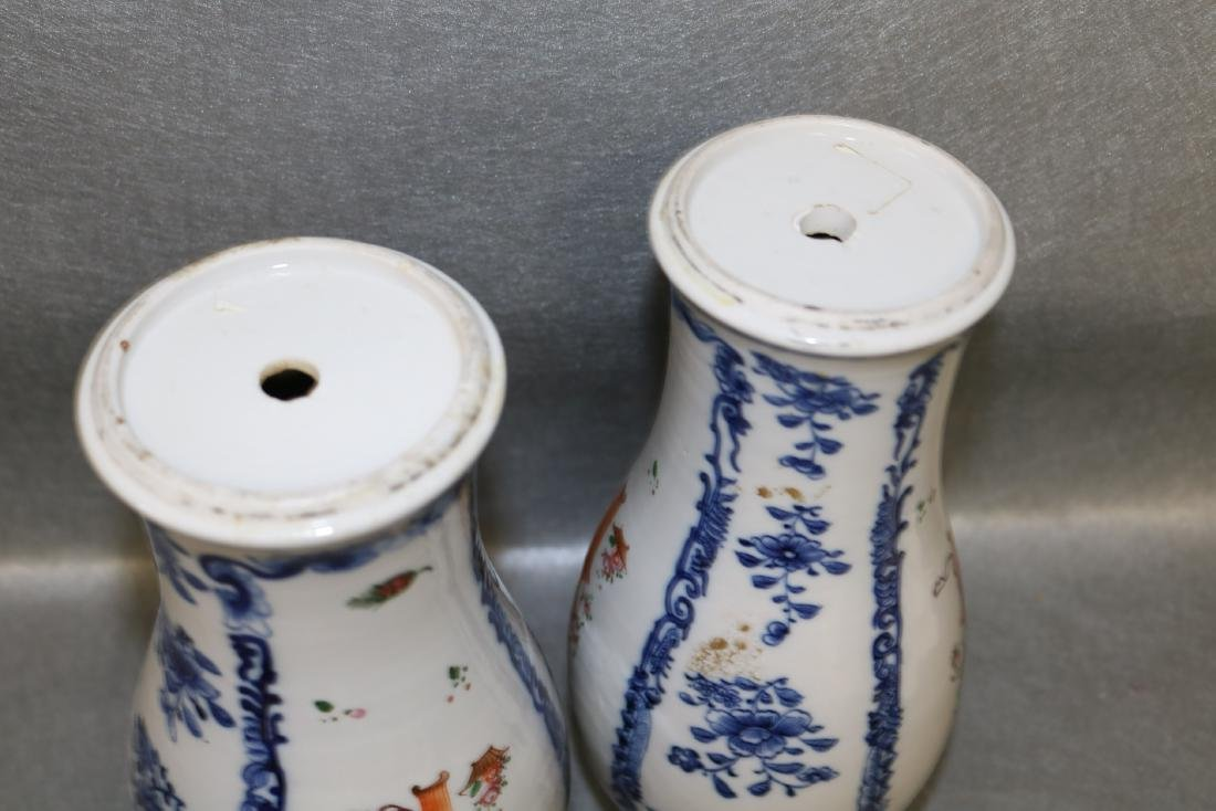 Pair Qian Long Chinese Export Vases - 6
