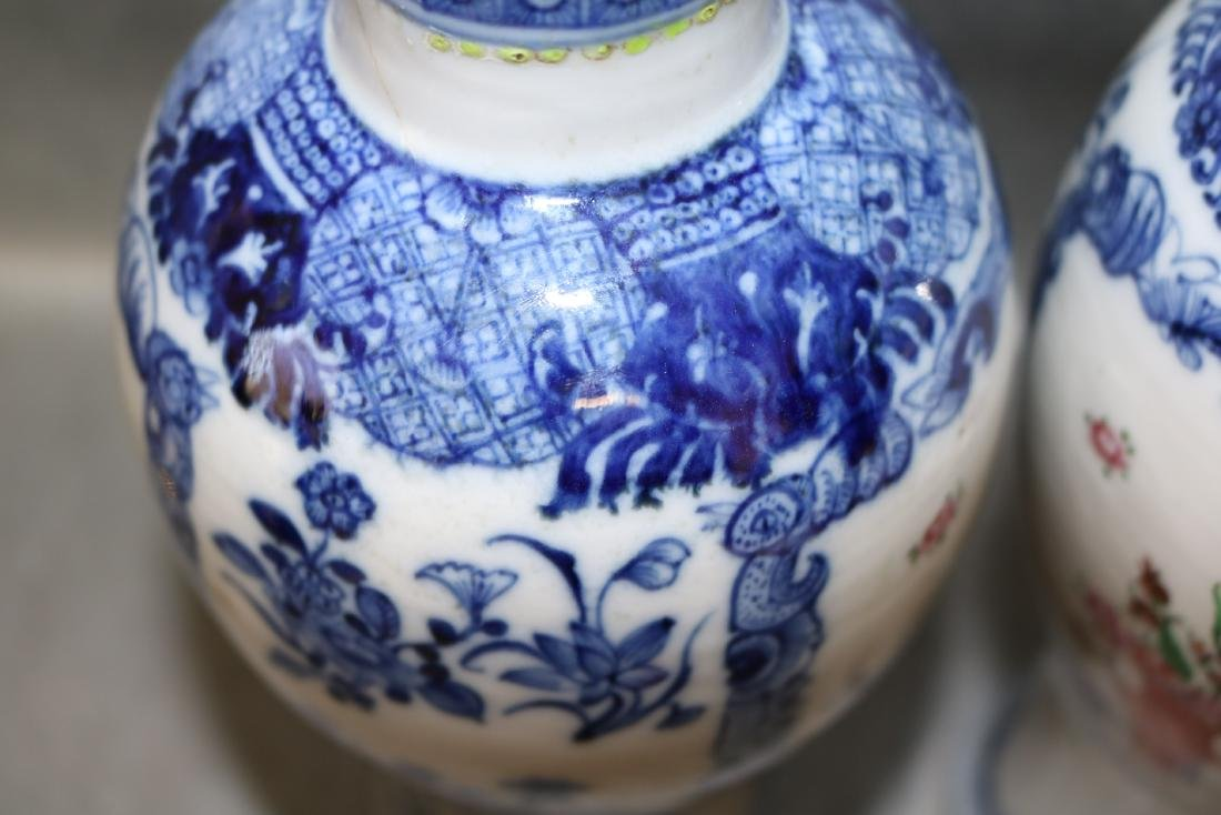 Pair Qian Long Chinese Export Vases - 7