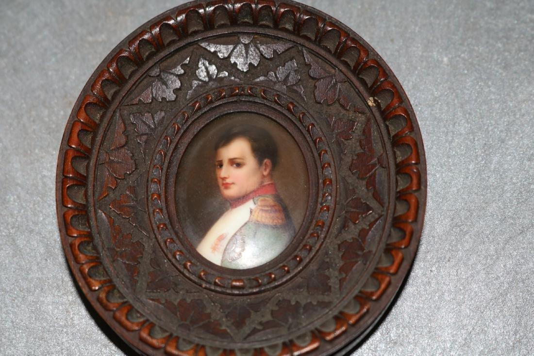 Antique Miniature Painting on Porcelain