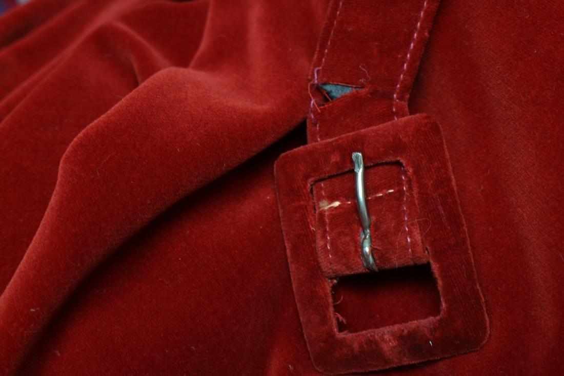 Vintage Red Velvet Halter Dress - 6