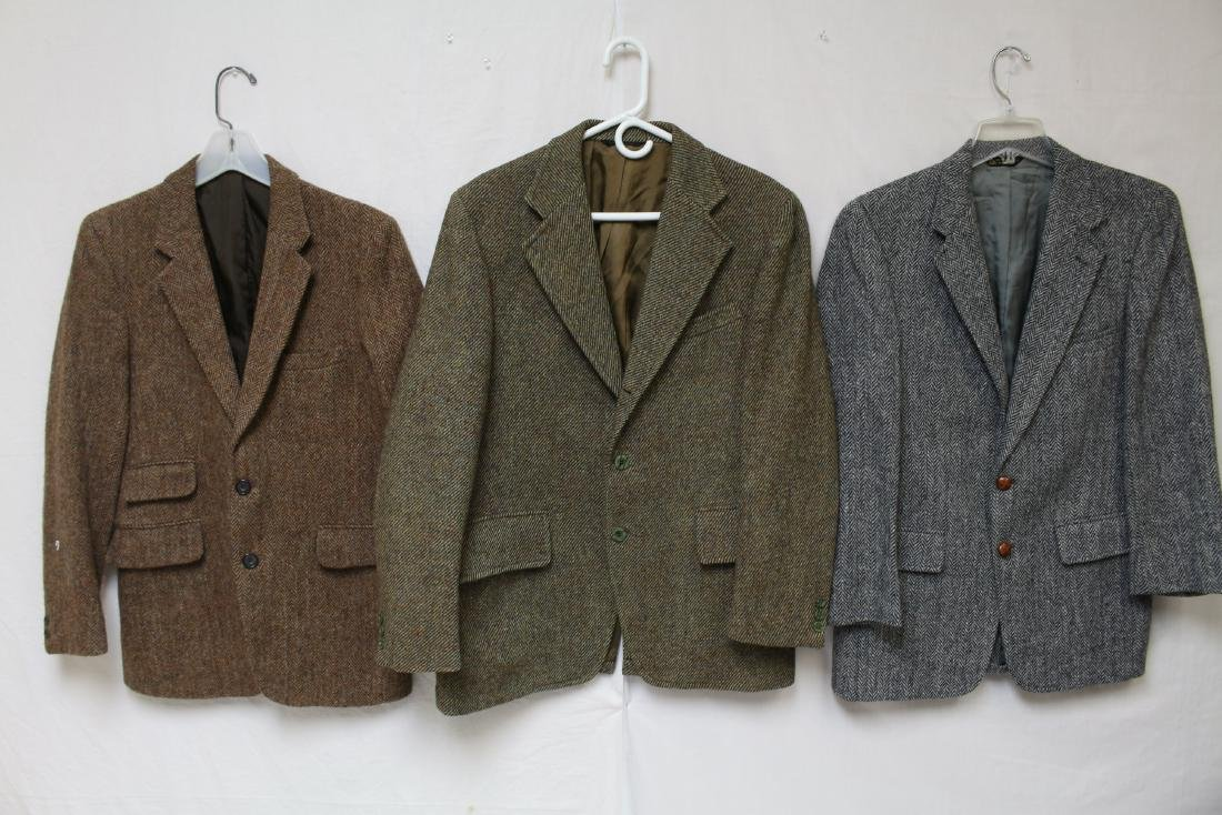 Vintage Lot of 3 Harris Tweed Jackets
