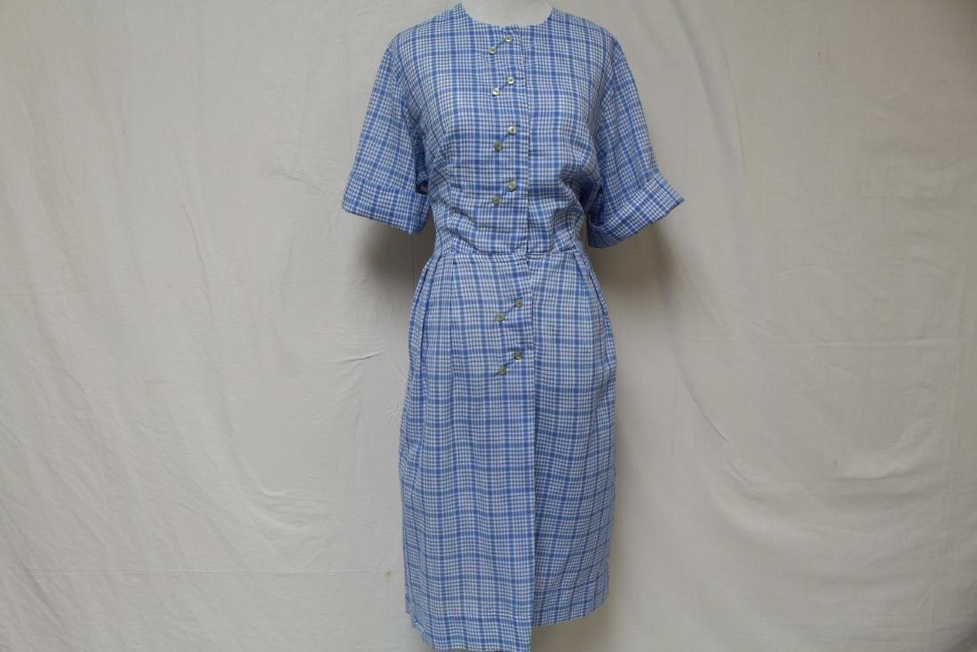 Vintage Plaid Shirt Dress