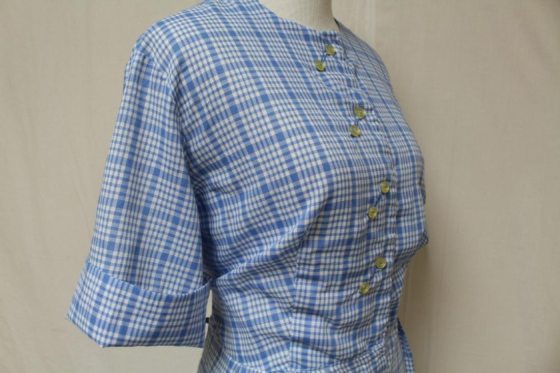 Vintage Plaid Shirt Dress - 2