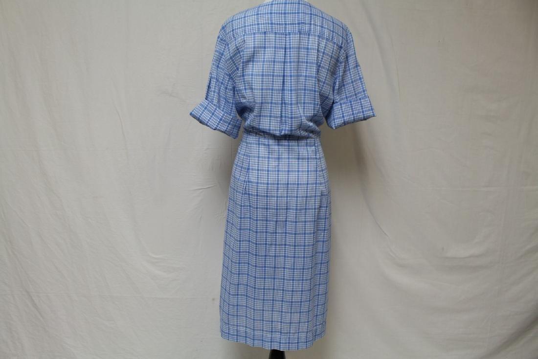 Vintage Plaid Shirt Dress - 3