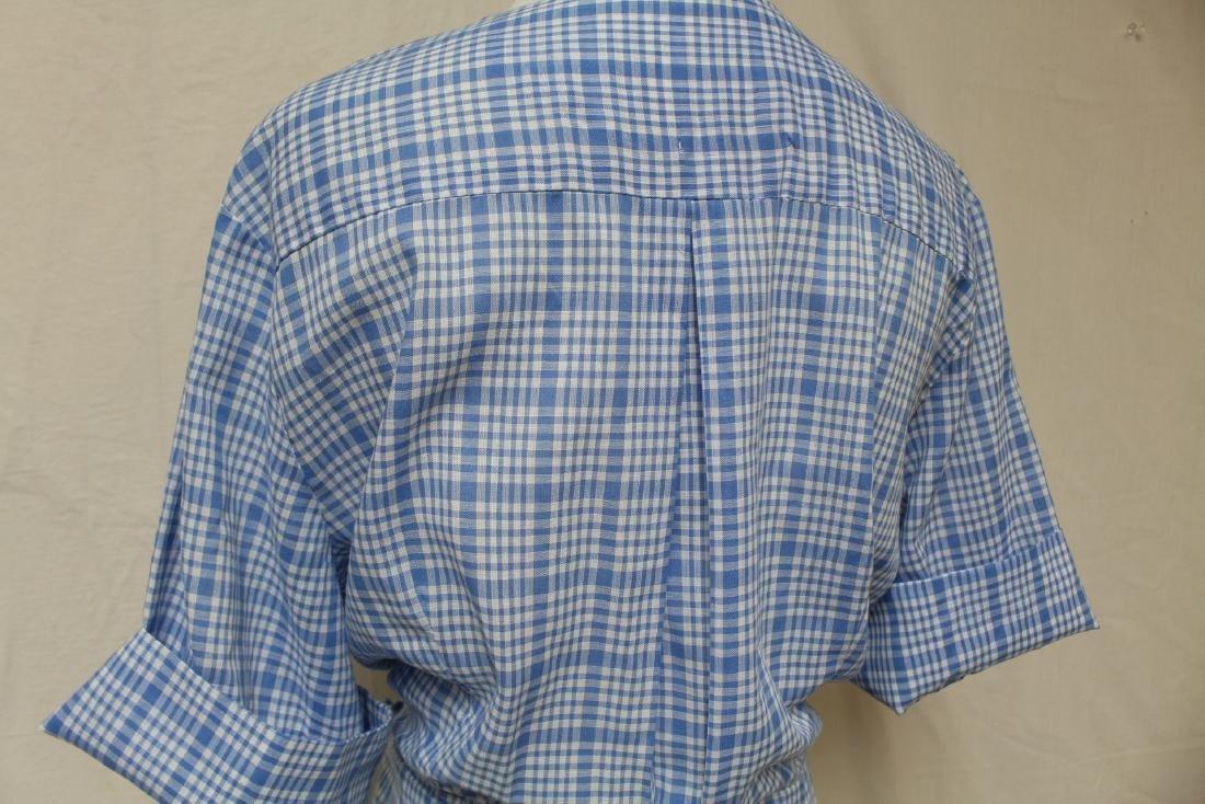 Vintage Plaid Shirt Dress - 4