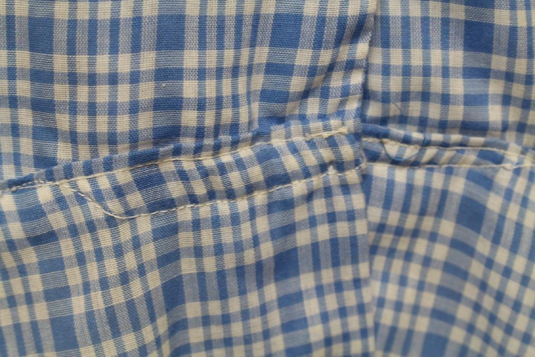 Vintage Plaid Shirt Dress - 5