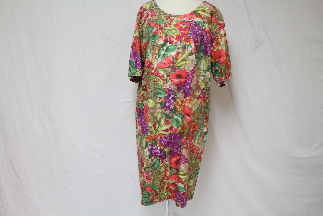 Vintage 1960's Tropical Print Shift dress