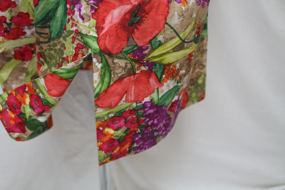 Vintage 1960's Tropical Print Shift dress - 4