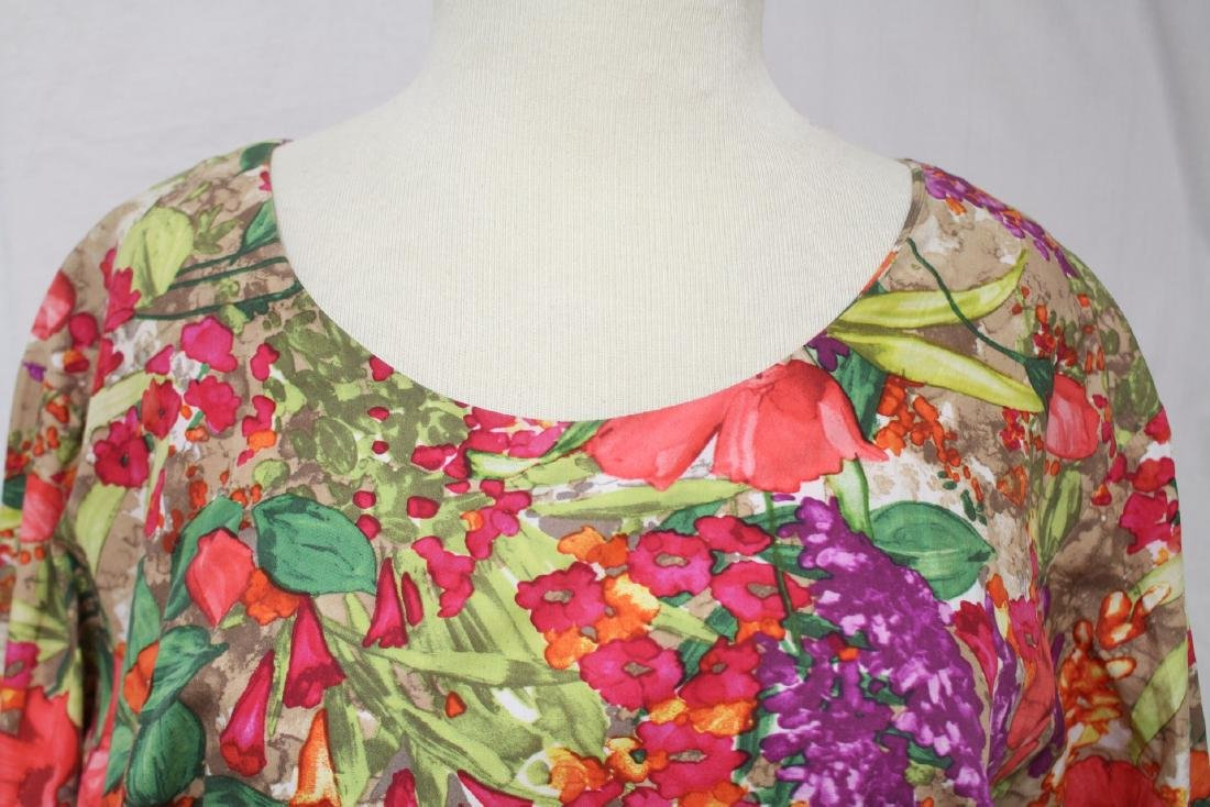 Vintage 1960's Tropical Print Shift dress - 5