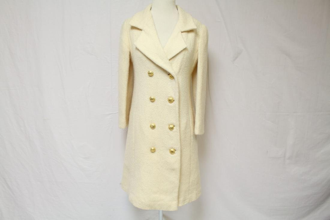 Vintage 1960's Jeunes Filles by Jacques Heim White Wool