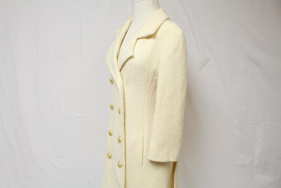 Vintage 1960's Jeunes Filles by Jacques Heim White Wool - 4