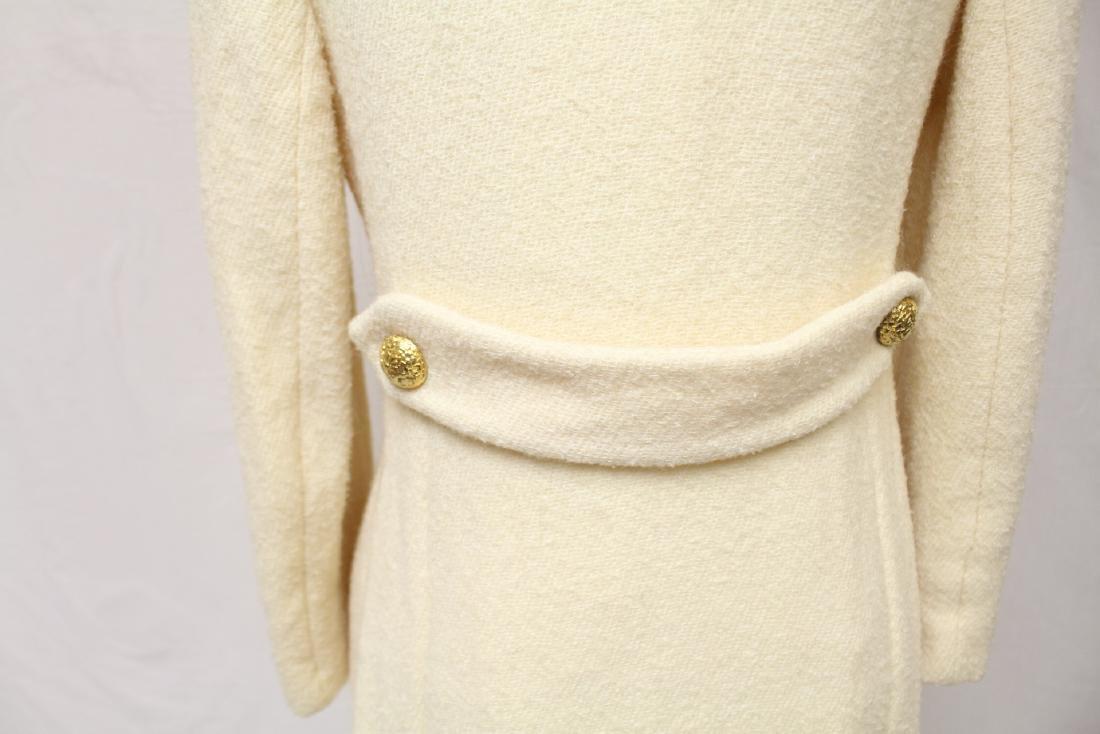 Vintage 1960's Jeunes Filles by Jacques Heim White Wool - 6