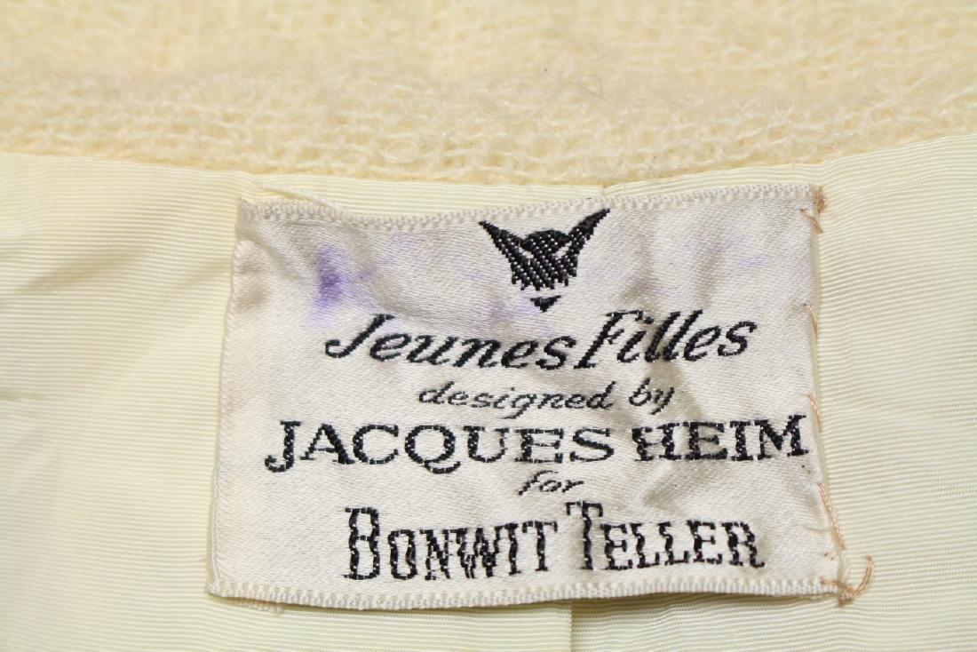 Vintage 1960's Jeunes Filles by Jacques Heim White Wool - 7
