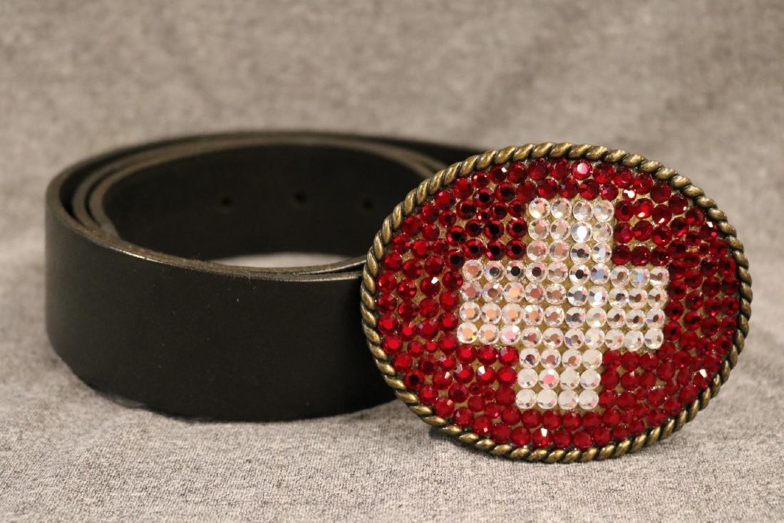 Vintage Juumi Joolz Belt Buckle & Leather Belt