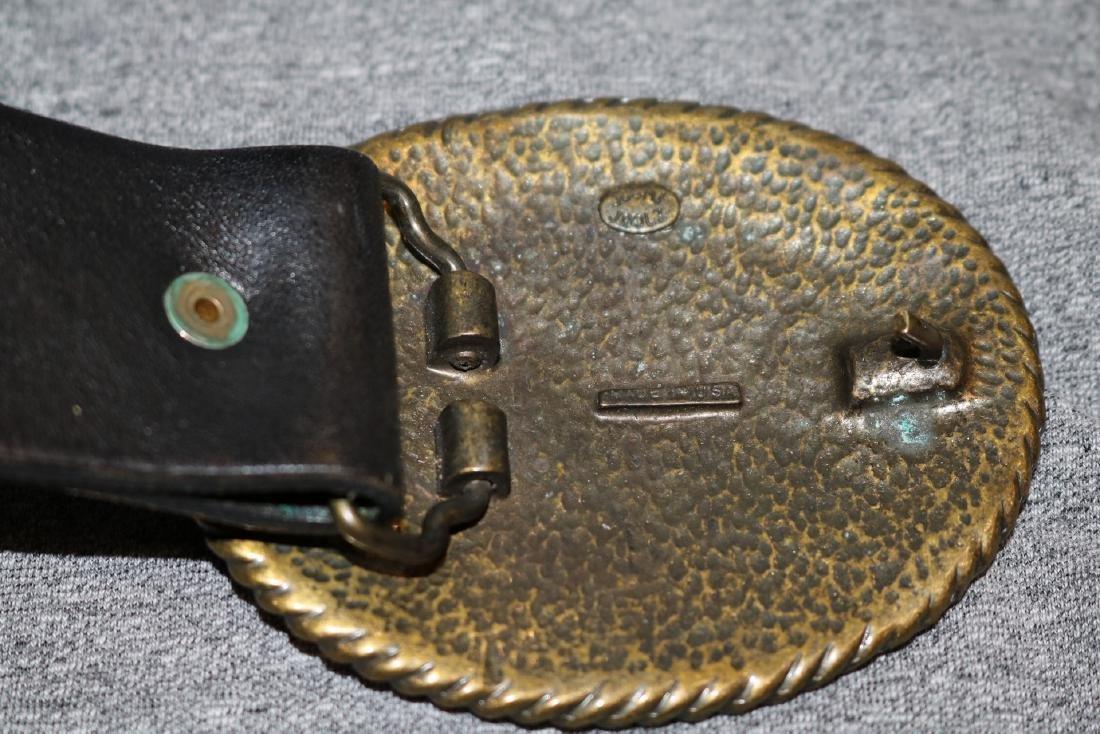Vintage Juumi Joolz Belt Buckle & Leather Belt - 3