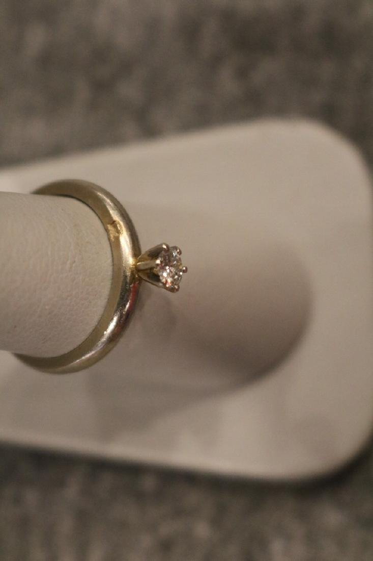 Vintage 14K Diamond Ring - 3