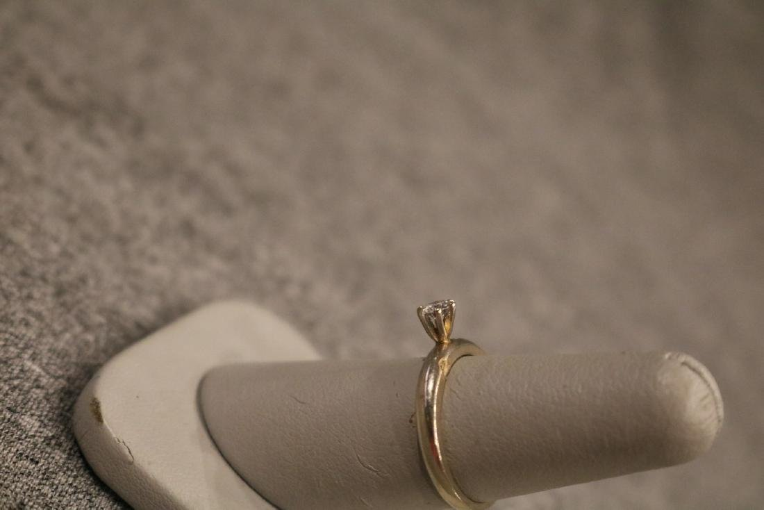 Vintage 14K Diamond Ring - 4