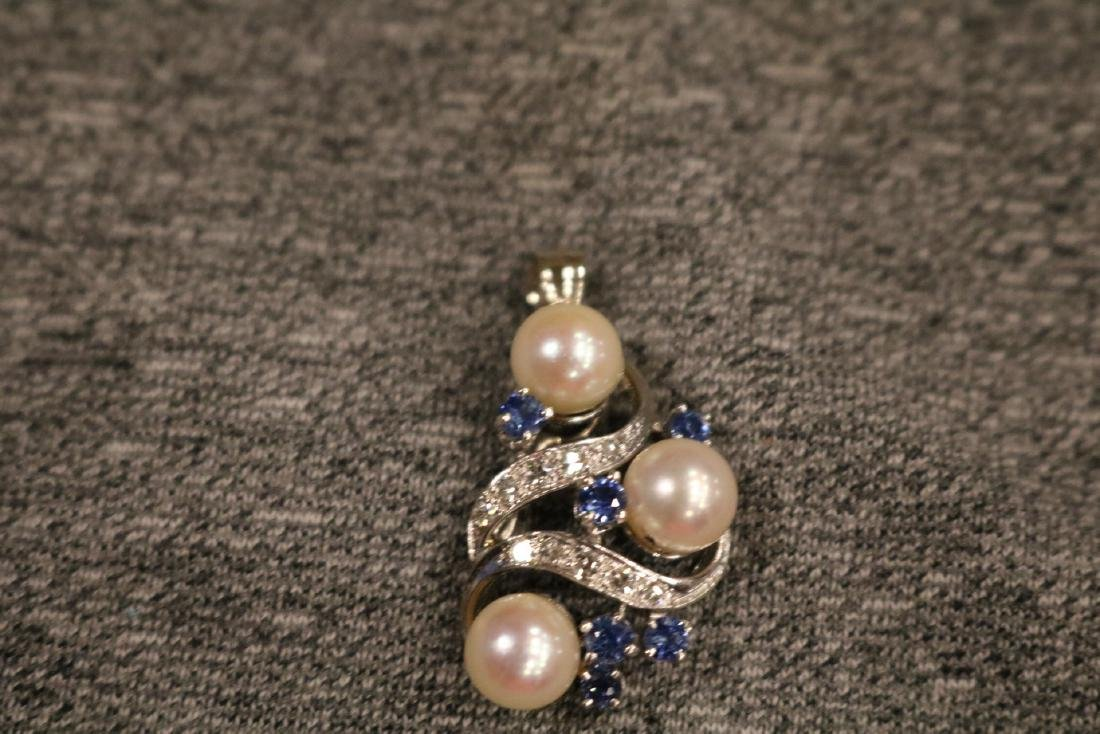 Vintage 14K Diamond Pendant