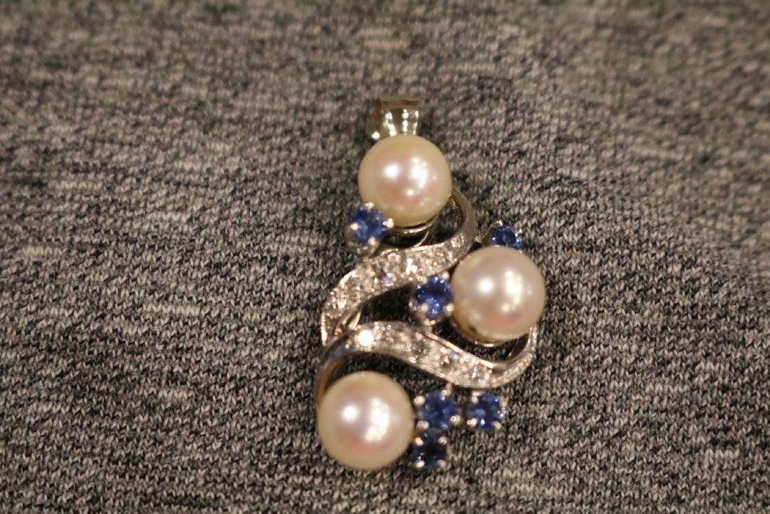 Vintage 14K Diamond Pendant - 2