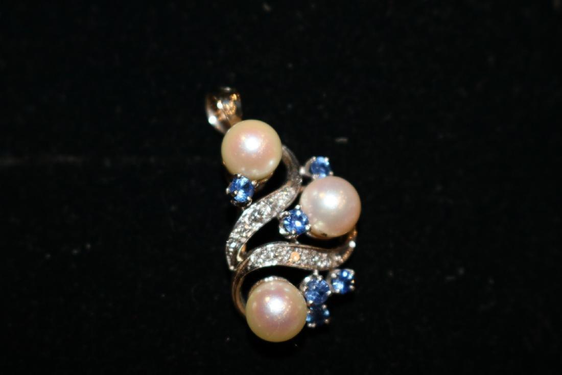 Vintage 14K Diamond Pendant - 3
