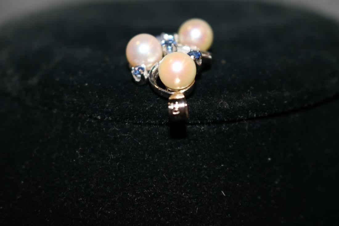 Vintage 14K Diamond Pendant - 5
