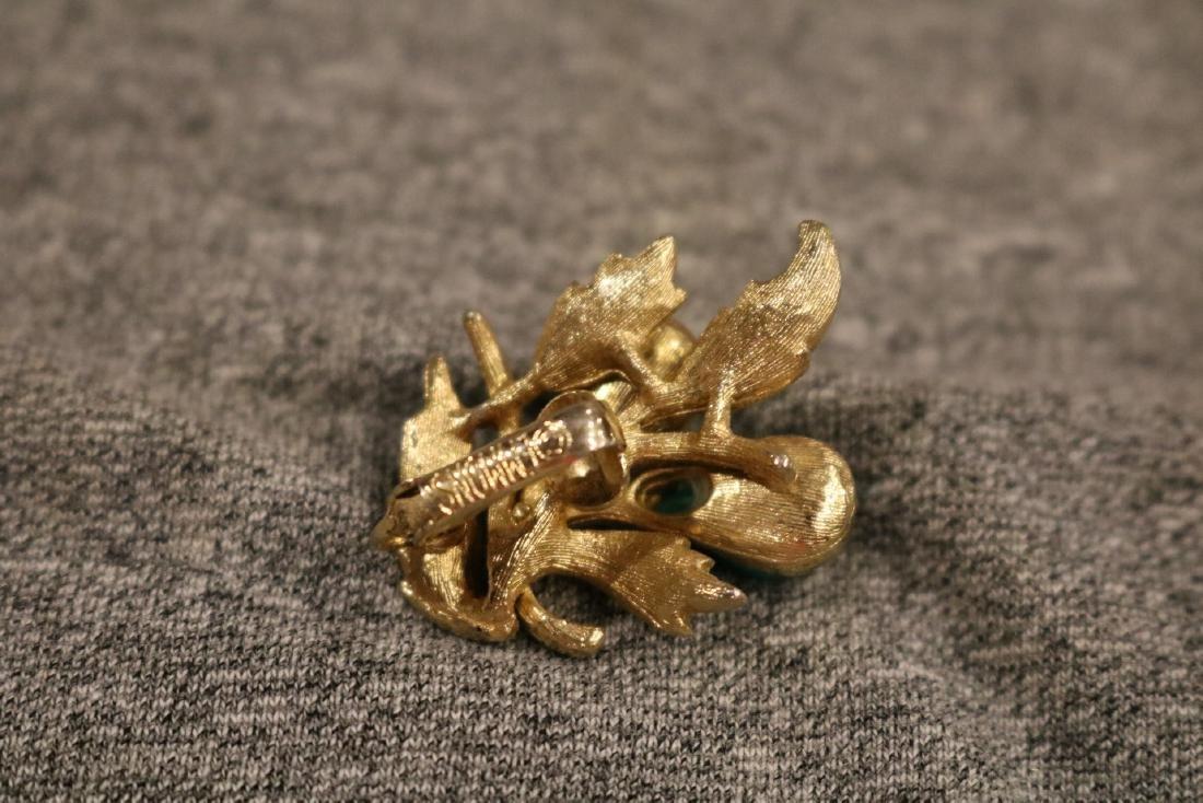 Vintage Caroline Emmons 3 piece brooch & earring set - 3