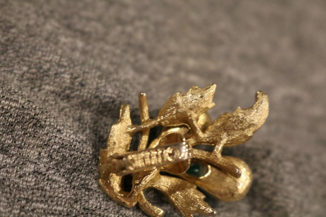 Vintage Caroline Emmons 3 piece brooch & earring set - 4