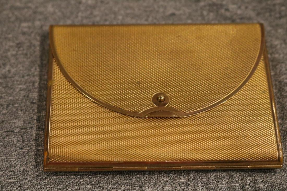 vintage Coty trifold goldtone Compact