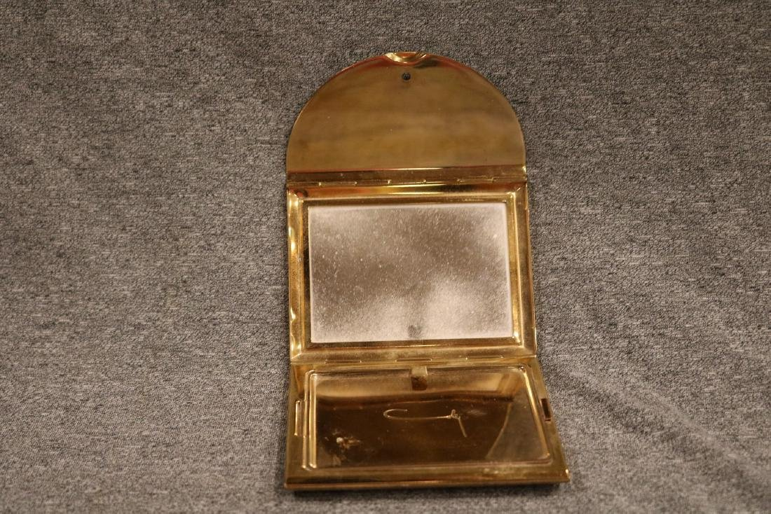 vintage Coty trifold goldtone Compact - 2